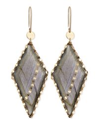 Lana Jewelry - Metallic Lumos Labradorite Edge Earrings - Lyst