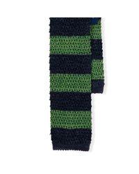 Polo Ralph Lauren - Blue Striped Knit-silk Tie for Men - Lyst