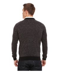 Mavi Jeans - Gray Henley Sweater for Men - Lyst