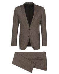 BOSS - Brown Slim-fit Suit In New-wool Blend With Silk: 'huge4/genius3' for Men - Lyst