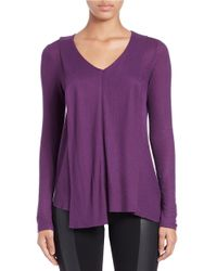 Kensie | Purple Waffle-knit Pullover | Lyst
