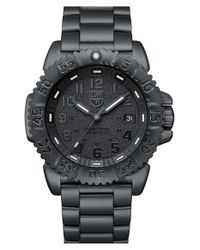 Luminox | Black 'sea - Steel Colormark' Bracelet Watch for Men | Lyst
