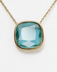 "Michael Kors - Blue Stone Pendant Necklace, 16"" - Lyst"