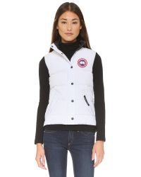 Canada Goose | White Freestyle Vest | Lyst