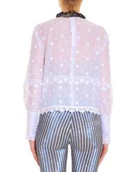 Giamba - White Broderie Shirt - Lyst