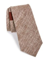 W.r.k. | Brown Stripe Linen Tie for Men | Lyst