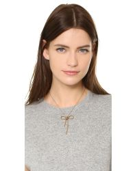Marc Jacobs - Metallic Rope Bow Pendant Necklace - Lyst