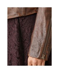 RRL - Brown Leather Rider Jacket - Lyst