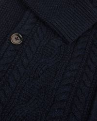 Ted Baker | Blue Cable Knit Cardigan for Men | Lyst