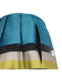 Paul Smith - Multicolor Women'S Sheer Stripe Cotton-Blend Full Skirt - Lyst