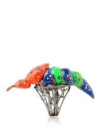 Vernissage Jewellery | Multicolor Fire Fly Articulate Ring for Men | Lyst