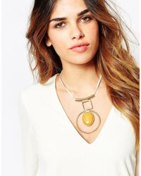 ASOS | Metallic 70's Mixed Shape Nugget Necklace | Lyst