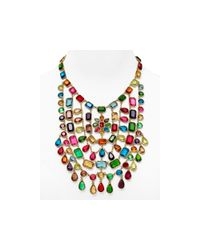 Carolee | Multicolor Bib Statement Necklace, 16"