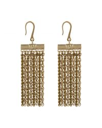 Lanvin | Metallic Zita Fringed Earrings | Lyst