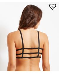 Live Love Dream | Black Lld Seamless Cage-back Sports Bra | Lyst