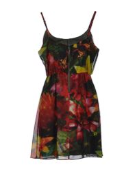 Alice + Olivia | Multicolor Printed Stretch-silk Dress | Lyst