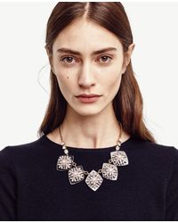 Ann Taylor | Metallic Crystal Lucite Statement Necklace | Lyst