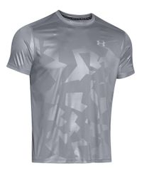 Under Armour | Gray Fitted Performance Tee for Men | Lyst