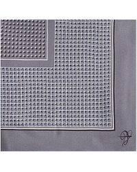 Canali | Metallic Micro Square-print Silk Pocket Square - For Men for Men | Lyst