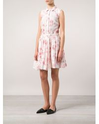 Band of Outsiders | White Pleated Shirt Dress | Lyst