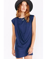 Silence + Noise | Blue Draped Mini Tee Dress | Lyst