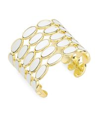 House of Harlow 1960 | White Leather Cuff Bracelet | Lyst