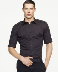 Pink Pony | Black Label Military Stretch Poplin Shirt for Men | Lyst