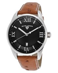 Swiss Legend - Metallic Bellezza Genuine Brown Ostrich Black Dial for Men - Lyst
