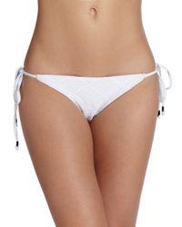 Shoshanna - White Diamond-textured String Bikini Bottom - Lyst