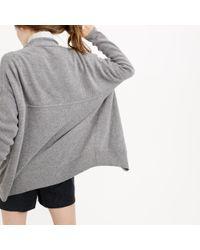 J.Crew - Metallic Petite Ribbed Open Cardigan Sweater - Lyst