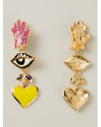 Christian Lacroix | Metallic Drop Clip-on Earrings | Lyst