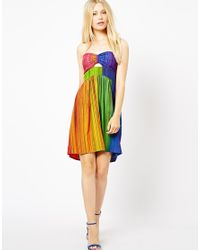 Sugarhill | Multicolor Printed Dress with Cut Out | Lyst
