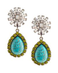 DANNIJO - Blue Ranya Turquoise Colored Teardrop Earrings - Lyst