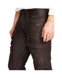 Ralph Lauren Black Label - Brown Defender Moto Jean for Men - Lyst