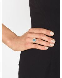 Irene Neuwirth - Blue Diamond Pavé Aquamarine Ring - Lyst