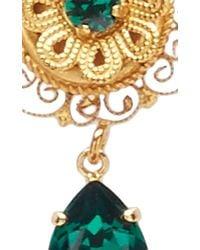 Dolce & Gabbana | Green Crystal Earrings | Lyst
