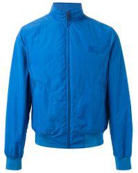Burberry Brit - Blue Windbreaker Jacket for Men - Lyst
