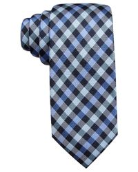 Vince Camuto | Blue Pellico Gingham Slim Tie for Men | Lyst