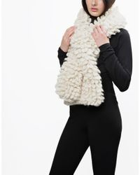Wool And The Gang   White Plush Perry Scarf   Lyst