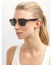Ray-Ban Black Square Clubmaster Sunglasses