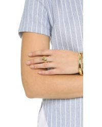 Elizabeth and James - Metallic Bea Ring - Lyst