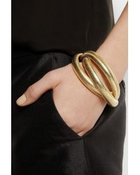 Kenneth Jay Lane | Metallic Goldplated Wrap Bracelet | Lyst