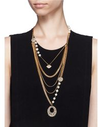 Lulu Frost | Metallic Voltaire Multi-chain Necklace | Lyst