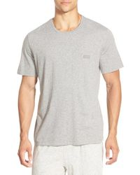 BOSS - Gray Stretch Cotton Crewneck T-shirt for Men - Lyst