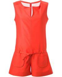 Courreges - Orange Sleeveless Playsuit - Lyst