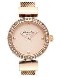 Kenneth Cole - Metallic Crystal Bezel Watch - Lyst