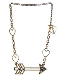 Lanvin - Metallic 125 Charms Arrow Necklace - Lyst