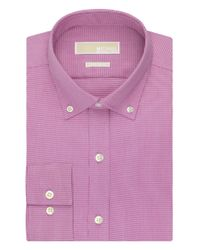MICHAEL Michael Kors - Pink Regular Fit Dress Shirt for Men - Lyst