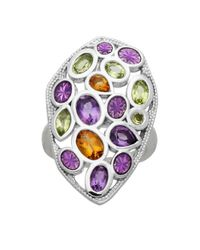 Lord & Taylor | Multicolor Sterling Silver Citrine Peridot And Amethyst Ring | Lyst