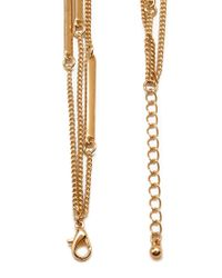 Forever 21 - Metallic Linear Layered Necklace - Lyst